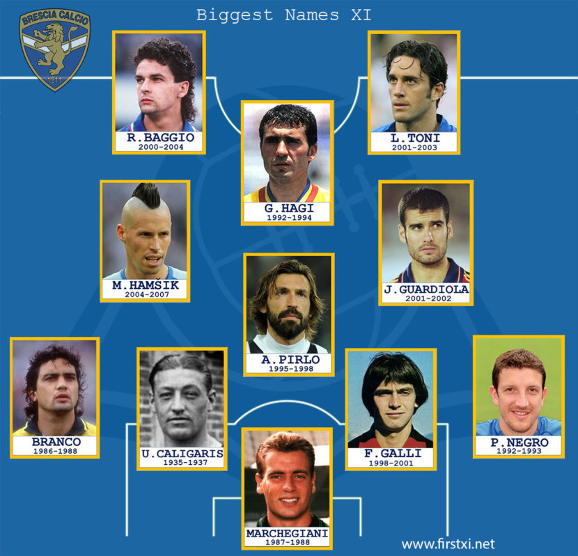 Football legends in Brecsia